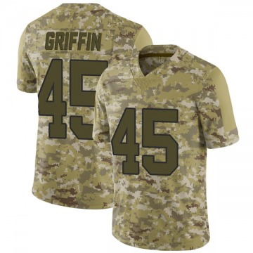 Youth Nike New Orleans Saints Garrett Griffin Camo 2018 Salute to Service Jersey - Limited