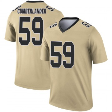 Youth Nike New Orleans Saints Gus Cumberlander Gold Inverted Jersey - Legend