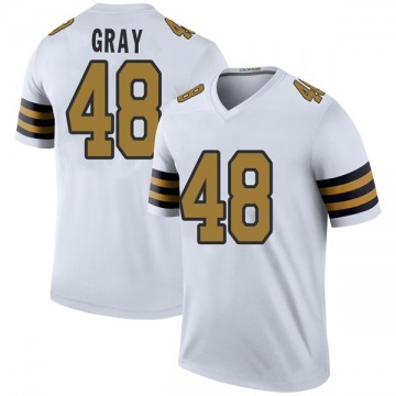Youth Nike New Orleans Saints J.T. Gray White Color Rush Jersey - Legend