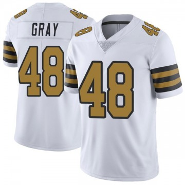 Youth Nike New Orleans Saints J.T. Gray White Color Rush Jersey - Limited
