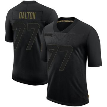 Youth Nike New Orleans Saints Jalen Dalton Black 2020 Salute To Service Jersey - Limited