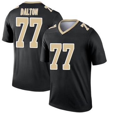 Youth Nike New Orleans Saints Jalen Dalton Black Jersey - Legend
