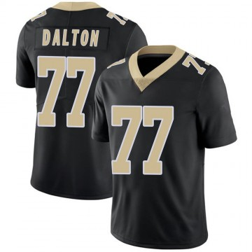Youth Nike New Orleans Saints Jalen Dalton Black Team Color 100th Vapor Untouchable Jersey - Limited