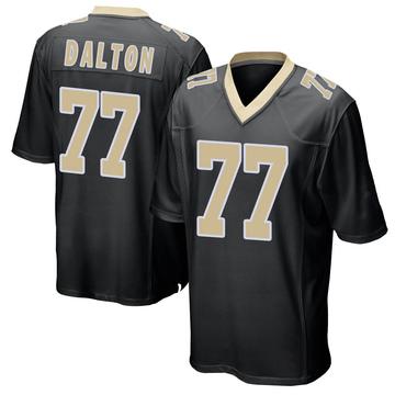 Youth Nike New Orleans Saints Jalen Dalton Black Team Color Jersey - Game