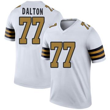 Youth Nike New Orleans Saints Jalen Dalton White Color Rush Jersey - Legend