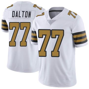 Youth Nike New Orleans Saints Jalen Dalton White Color Rush Jersey - Limited