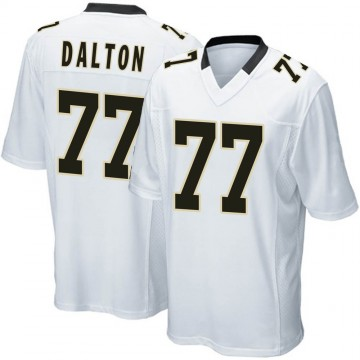 Youth Nike New Orleans Saints Jalen Dalton White Jersey - Game