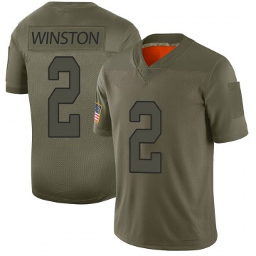 Youth Nike New Orleans Saints Jameis Winston Camo 2019 Salute to Service Jersey - Limited