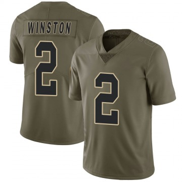 Youth Nike New Orleans Saints Jameis Winston Green 2017 Salute to Service Jersey - Limited