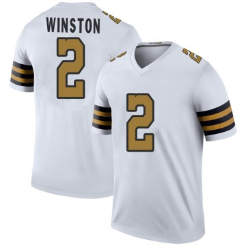 Youth Nike New Orleans Saints Jameis Winston White Color Rush Jersey - Legend