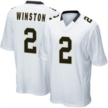 Youth Nike New Orleans Saints Jameis Winston White Jersey - Game