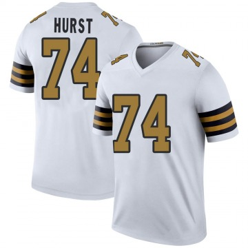 Youth Nike New Orleans Saints James Hurst White Color Rush Jersey - Legend
