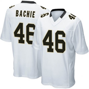 Youth Nike New Orleans Saints Joe Bachie White Jersey - Game
