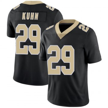 Youth Nike New Orleans Saints John Kuhn Black Team Color 100th Vapor Untouchable Jersey - Limited