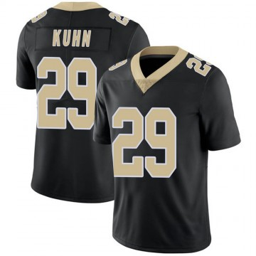 Youth Nike New Orleans Saints John Kuhn Black Team Color Vapor Untouchable Jersey - Limited