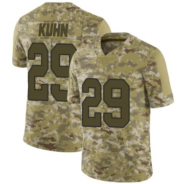 Youth Nike New Orleans Saints John Kuhn Camo 2018 Salute to Service Jersey - Limited