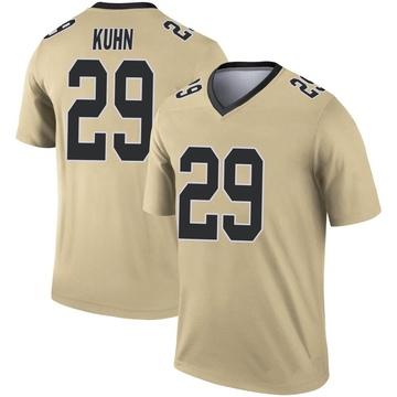 Youth Nike New Orleans Saints John Kuhn Gold Inverted Jersey - Legend