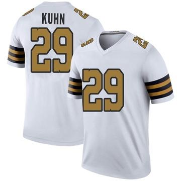 Youth Nike New Orleans Saints John Kuhn White Color Rush Jersey - Legend
