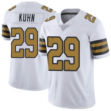 Youth Nike New Orleans Saints John Kuhn White Color Rush Jersey - Limited