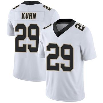 Youth Nike New Orleans Saints John Kuhn White Vapor Untouchable Jersey - Limited