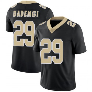Youth Nike New Orleans Saints Johnson Bademosi Black Team Color 100th Vapor Untouchable Jersey - Limited