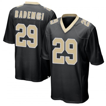 Youth Nike New Orleans Saints Johnson Bademosi Black Team Color Jersey - Game