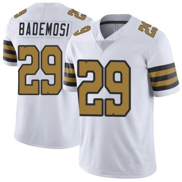 Youth Nike New Orleans Saints Johnson Bademosi White Color Rush Jersey - Limited