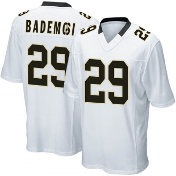 Youth Nike New Orleans Saints Johnson Bademosi White Jersey - Game