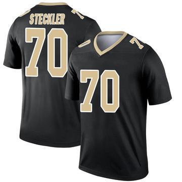 Youth Nike New Orleans Saints Jordan Steckler Black Jersey - Legend