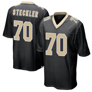 Youth Nike New Orleans Saints Jordan Steckler Black Team Color Jersey - Game