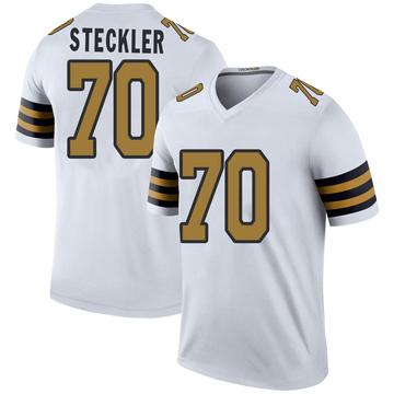 Youth Nike New Orleans Saints Jordan Steckler White Color Rush Jersey - Legend