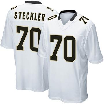 Youth Nike New Orleans Saints Jordan Steckler White Jersey - Game