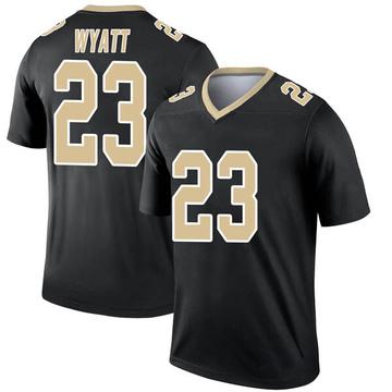 Youth Nike New Orleans Saints Jordan Wyatt Black Jersey - Legend