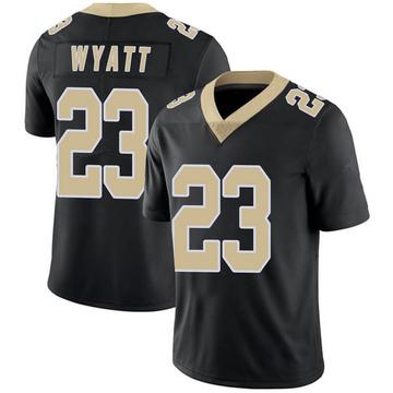 Youth Nike New Orleans Saints Jordan Wyatt Black Team Color 100th Vapor Untouchable Jersey - Limited