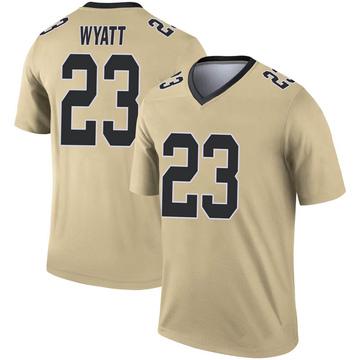 Youth Nike New Orleans Saints Jordan Wyatt Gold Inverted Jersey - Legend