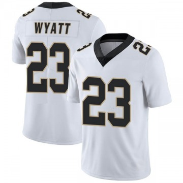Youth Nike New Orleans Saints Jordan Wyatt White Vapor Untouchable Jersey - Limited