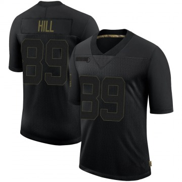 Youth Nike New Orleans Saints Josh Hill Black 2020 Salute To Service Jersey - Limited