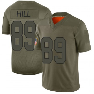 Youth Nike New Orleans Saints Josh Hill Camo 2019 Salute to Service Jersey - Limited