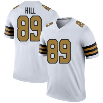 Youth Nike New Orleans Saints Josh Hill White Color Rush Jersey - Legend