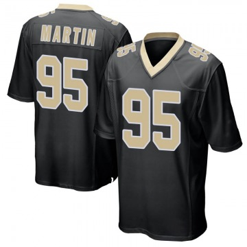 Youth Nike New Orleans Saints Josh Martin Black Team Color Jersey - Game