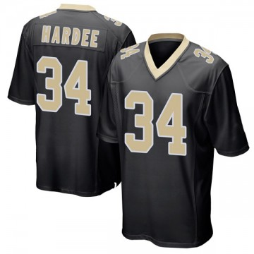 Youth Nike New Orleans Saints Justin Hardee Black Team Color Jersey - Game