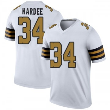 Youth Nike New Orleans Saints Justin Hardee White Color Rush Jersey - Legend