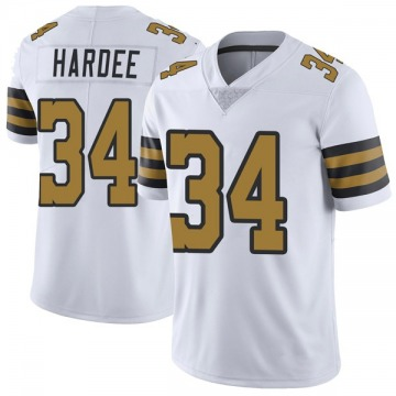Youth Nike New Orleans Saints Justin Hardee White Color Rush Jersey - Limited