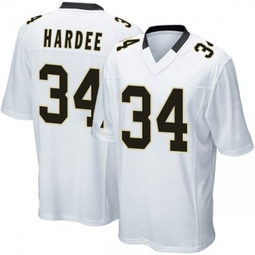 Youth Nike New Orleans Saints Justin Hardee White Jersey - Game
