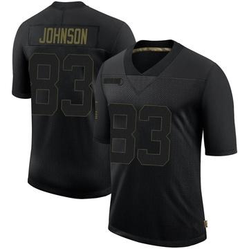 Youth Nike New Orleans Saints Juwan Johnson Black 2020 Salute To Service Jersey - Limited