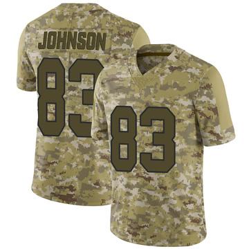 Youth Nike New Orleans Saints Juwan Johnson Camo 2018 Salute to Service Jersey - Limited