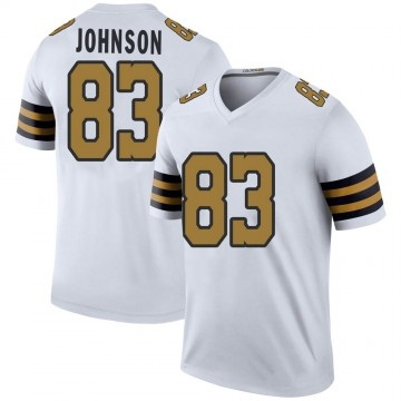 Youth Nike New Orleans Saints Juwan Johnson White Color Rush Jersey - Legend