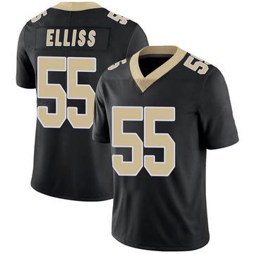 Youth Nike New Orleans Saints Kaden Elliss Black Team Color 100th Vapor Untouchable Jersey - Limited