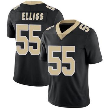 Youth Nike New Orleans Saints Kaden Elliss Black Team Color Vapor Untouchable Jersey - Limited