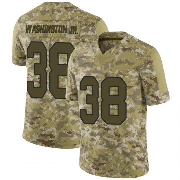 Youth Nike New Orleans Saints Keith Washington Jr. Camo 2018 Salute to Service Jersey - Limited
